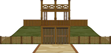 Wooden Roman Tower Fort
