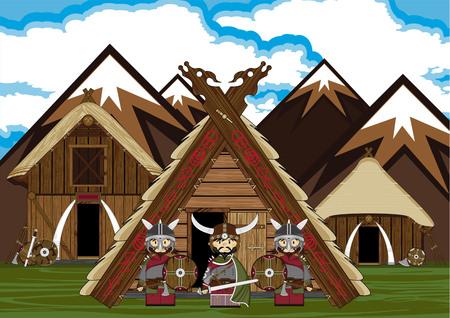 warriors: Viking Warriors and Hut Scene