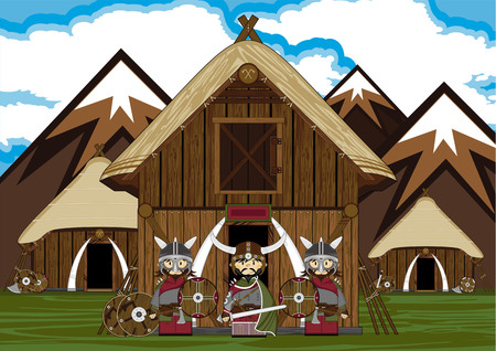 warriors: Norse Viking Warriors and Hut