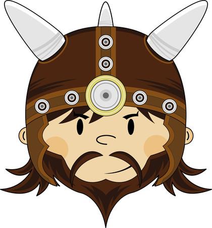 Cartoon Norse Viking Warrior