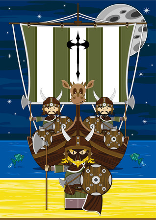 warriors: Viking Warriors and Ship