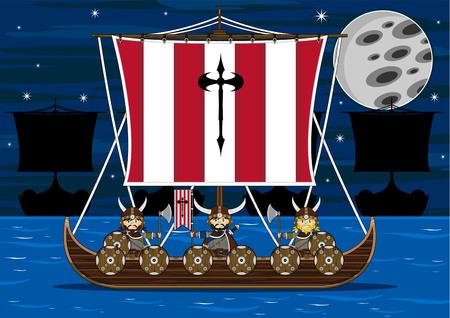 warriors: Viking Warriors on Longboat