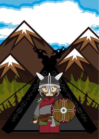 warriors: Viking Warriors and Tent Scene