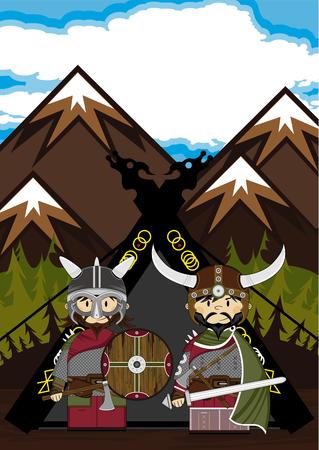 Viking Warriors and Tent Scene