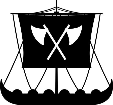 バイキング戦士ロングボート 写真素材 - 82089623