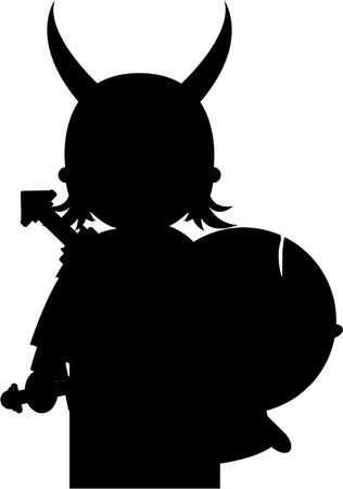 Noorse Viking Warrior in silhouet