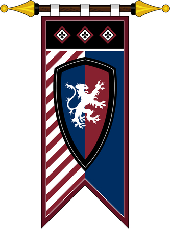Medieval Knights Banner Flag with Shield