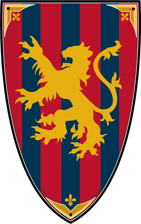 Medieval Knights Lion Shield