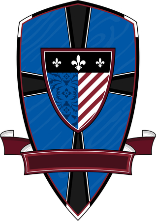 Medieval Knights Shield Illustration