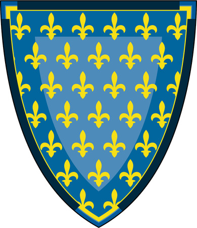 Medieval Knights Fleur De Lys Shield