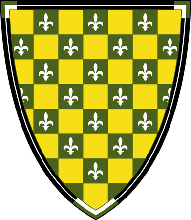 lys: Medieval Knights Shield with Fleur De Lys Illustration