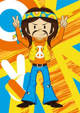 headband: Cool Flower Power Hippie Guy