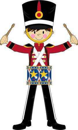 Cartoon Nutcracker Soldier Drumming