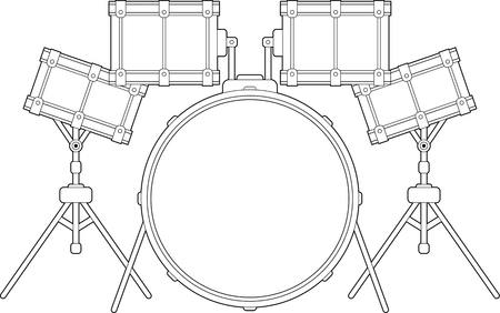 Drumkit Illustration Illustration