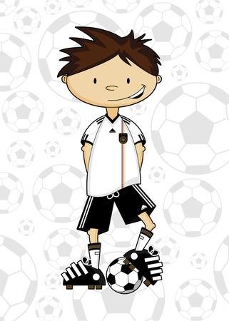 Cartoon Soccer Football Player
