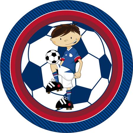 footy: Cartoon Soccer Football Player illustration.