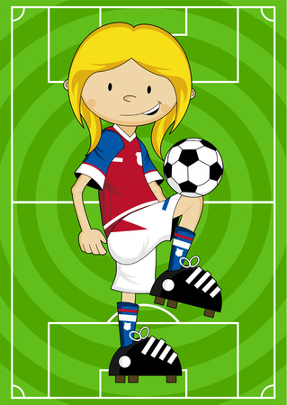 footy: Cartoon Soccer Football Player