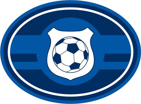 footy: Oval Soccer Football Badge