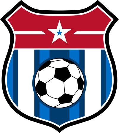 Soccer Football Shield Badge