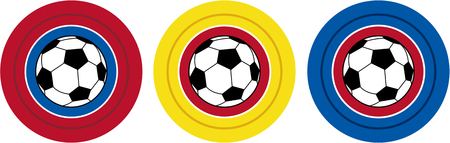 footy: Cartoon Soccer Footballs Illustration