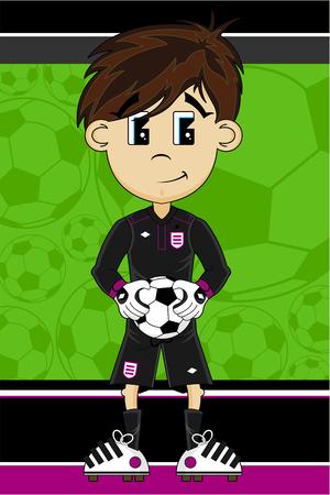 footy: Cartoon Soccer Football Goalkeeper Illustration