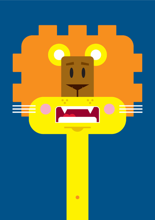 Cute Cartoon Lion Character