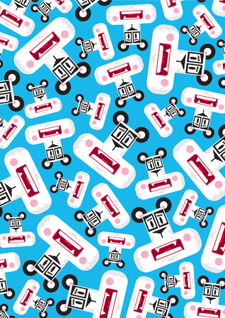 Cute Cartoon Panda Bear Pattern