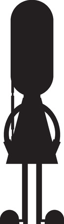Cute Cartoon British Queen's Palace Guard Silhouette