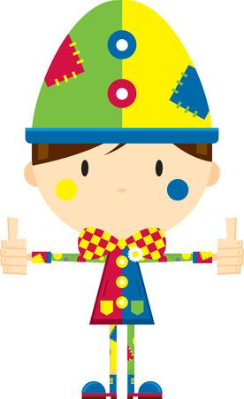 Cute Cartoon Circus Clown with Thumbs Up