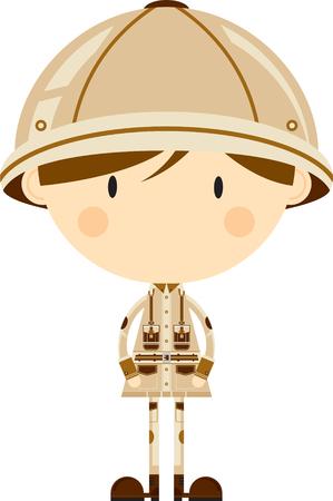 Cute Cartoon Safari Explorer