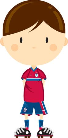 Cute Cartoon Football Player