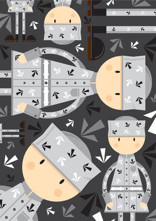 Cute Cartoon Prisoner Pattern