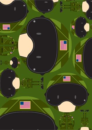 Cartoon Air Force Fighter Pilot Pattern