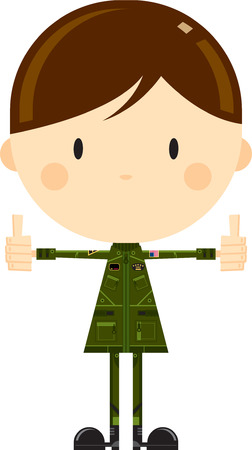 Air Force Fighter Pilot with Thumbs Up