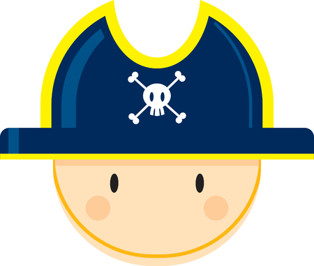 Cartoon Pirate Captain Face