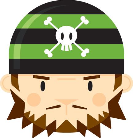 Cartoon Bandana Pirate Face