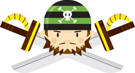 Bandana Pirate with Crossed Swords