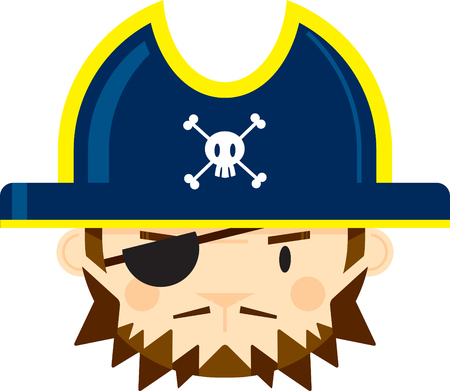 Pirate Captain with Eye Patch