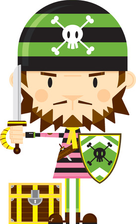 Bandana Pirate with Sword and Shield