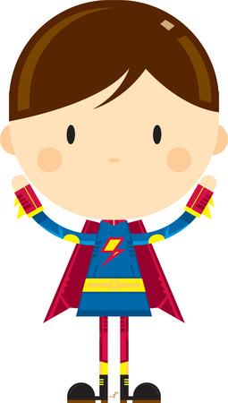 Cute Cartoon Heroic Superhero Character