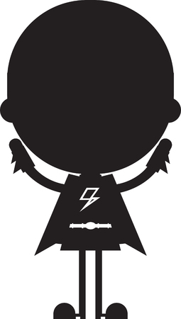 Cartoon Heroic Superhero Silhouette Stock Vector - 124436863