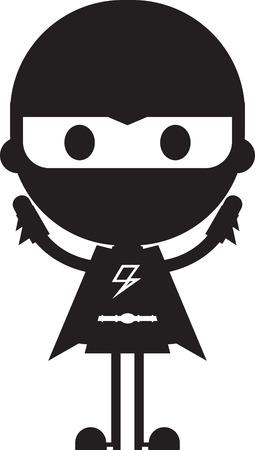 Cartoon Heroic Superhero Silhouette Stock Vector - 124436864