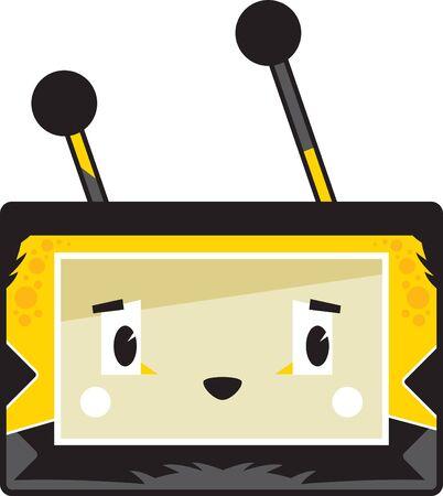 Cute Cartoon Block Honey Bee Face