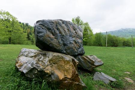 Nature in Tustan. Lviv region Stock Photo