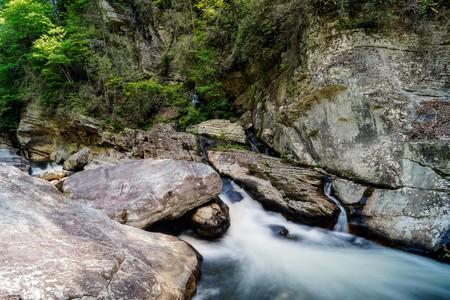 rapids: Linville River Flowing Rapids