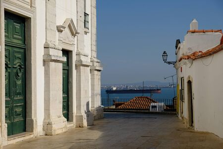 Portugal Lisbon view from old city to tagus river Reklamní fotografie