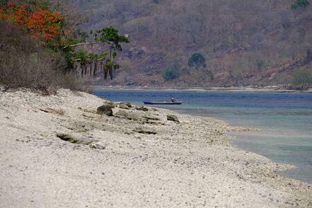 Indonesia Alor - Wonderful Coastline ocean landscape view with beach