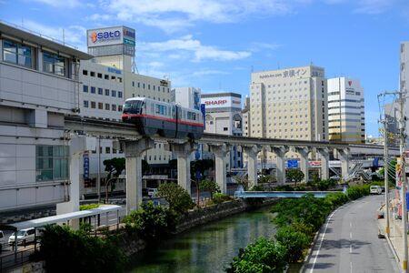 Okinawa Japan - elevated railway station