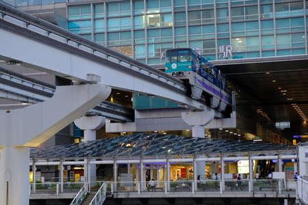 Kitakyushu Japan - Kokura railway station monorail line