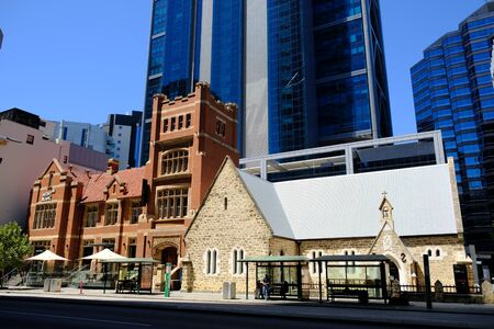 Western Australia Perth - Street photo St Georges Terrace road 版權商用圖片